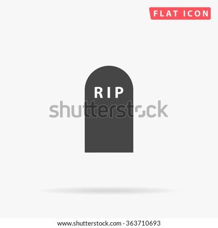 Grave Icon Vector.  - stock vector