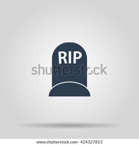 grave icon. Vector concept illustration for design. - stock vector