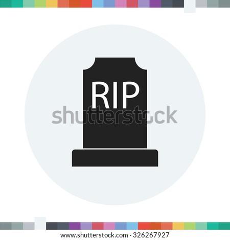 Gravestone icon. Halloween icon. - stock vector