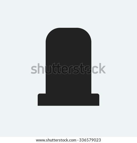 Gravestone icon. Halloween icon. Dead icon. - stock vector