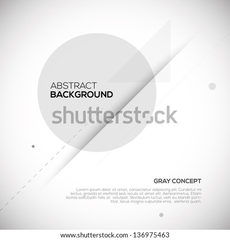 Gray abstract 3D background. Geometric design - stock vector