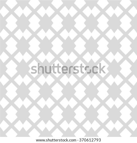 Gray and white geometric seamless pattern, abstract background, vector - stock vector