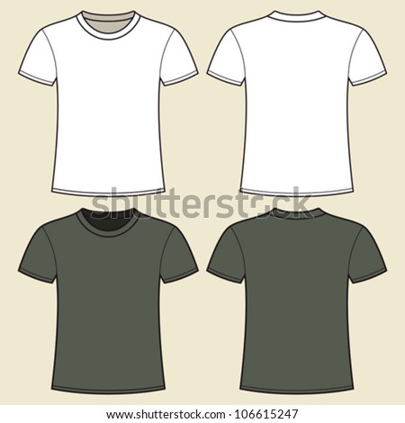 Gray and white t-shirt design template - stock vector