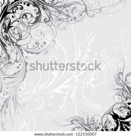 Gray background design - stock vector