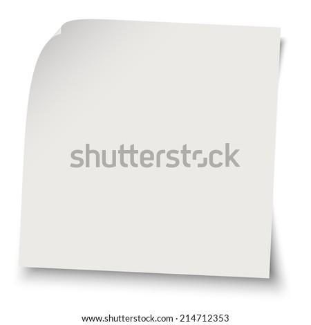 gray blank memo / note - stock vector