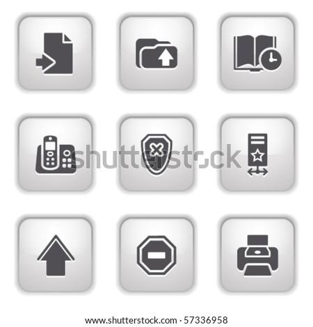 Gray button for internet 4 - stock vector