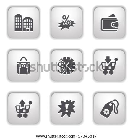 Gray button for internet 26 - stock vector