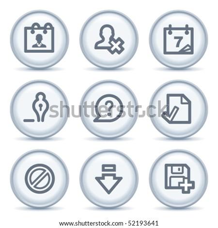 Gray contour icon 2 - stock vector