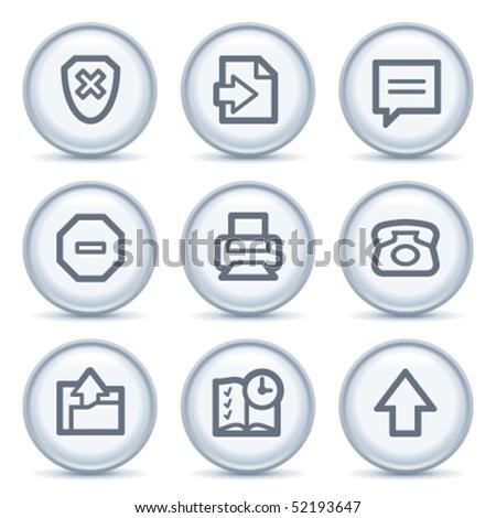 Gray contour icon 4 - stock vector