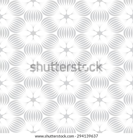 gray flower graphic pattern vector illustration . Modern stylish texture - stock vector