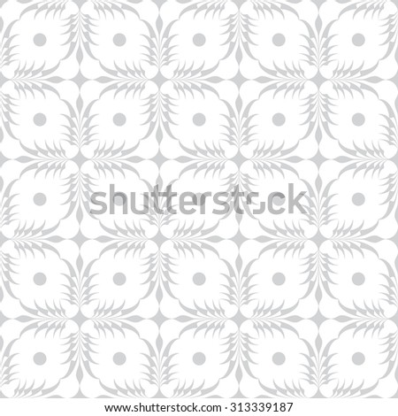 gray flower pattern abstract vector background. Modern stylish texture. - stock vector