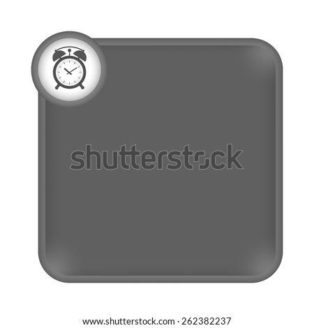 gray frame for any white text and alarm clock - stock vector