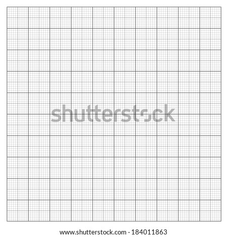 Gray grid paper - technical engineering line scale measurement 100mm patch, vector - stock vector