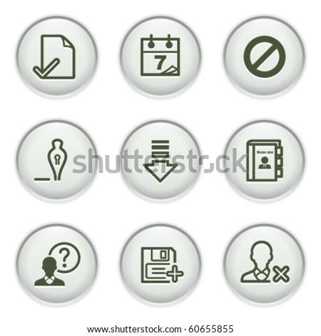 Gray icon with button 2 - stock vector