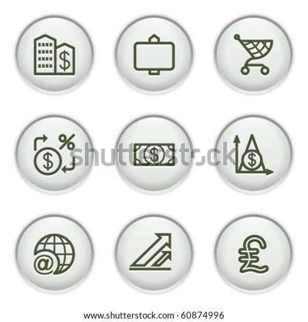 Gray icon with button 23 - stock vector