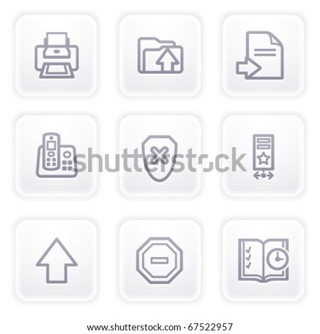 Gray icon with buttons 4 - stock vector