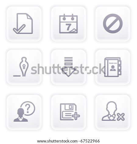 Gray icon with buttons 2 - stock vector
