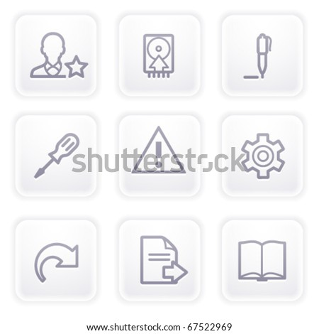 Gray icon with buttons 7 - stock vector