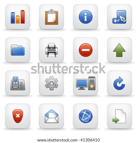 Gray label for web 2 - stock vector