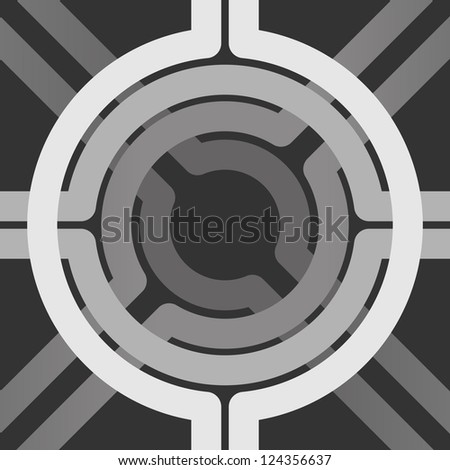 Gray lines seamless vector background - stock vector
