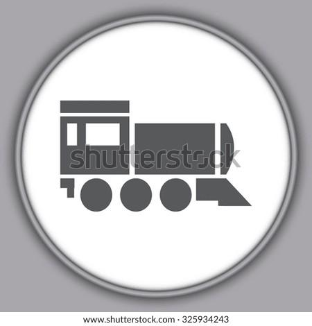Gray  Locomotive icon . Vector illustration - stock vector