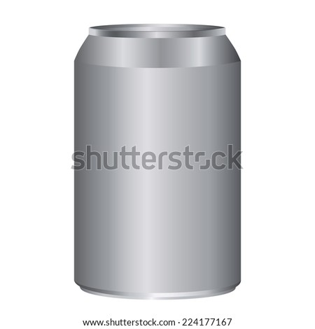 Gray metal cans adjustable high size isolated on white - stock vector