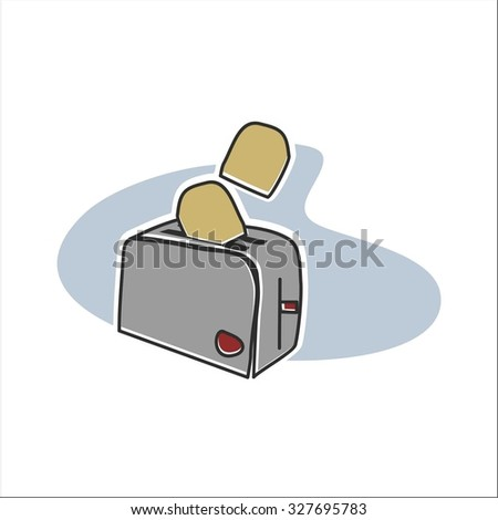 Gray Toaster - stock vector