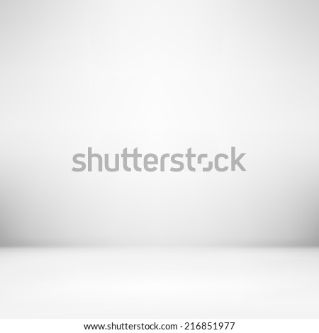 gray vector background texture of gradient wall and flat floor in empty spacious room interior - stock vector