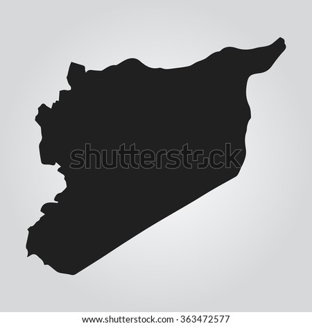 Gray Vector map Syria. Isolated vector Illustration. Black on Gradient background. EPS Illustration. - stock vector