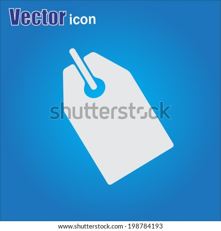 gray web icon on a blue background - stock vector