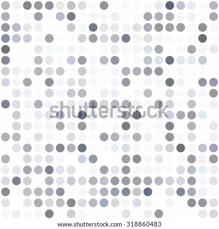 Gray White Dots Background, Creative Design Templates - stock vector