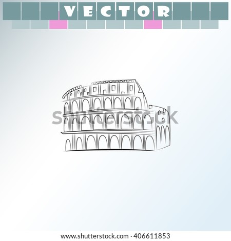Great Colosseum icon. Great Colosseum vector. Simple icon isolated on light background. - stock vector