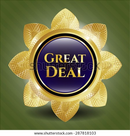Great Deal gold badge - stock vector
