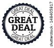 Great deal grunge rubber stamp, vector illustration - stock vector
