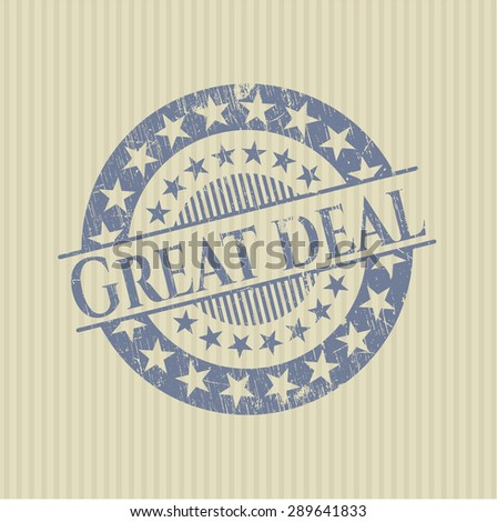 Great Deal rubber grunge stamp - stock vector