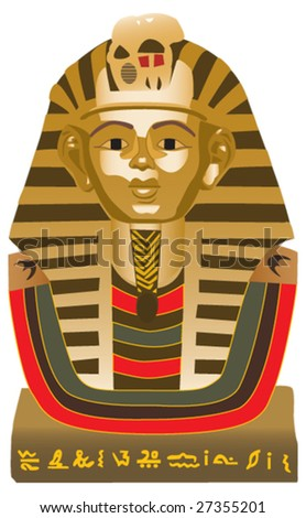 Great Sphinx of Giza, statue of a reclining lion with a human head that stands on the Giza Plateau on the west bank of the Nile, near modern-day Cairo, in Egypt. - stock vector