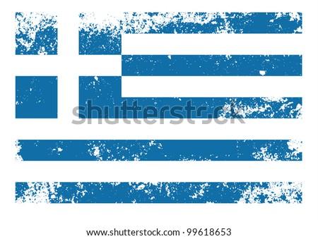 Greece flag grunge - stock vector