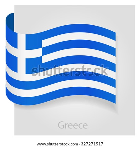 Greece flag, isolated vector illustration eps 10 - stock vector