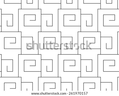 Greece vintage ethnic seamless pattern. Meandr. Folk abstract repeating background texture. Cloth design. Wallpaper. Mosaic. - stock vector