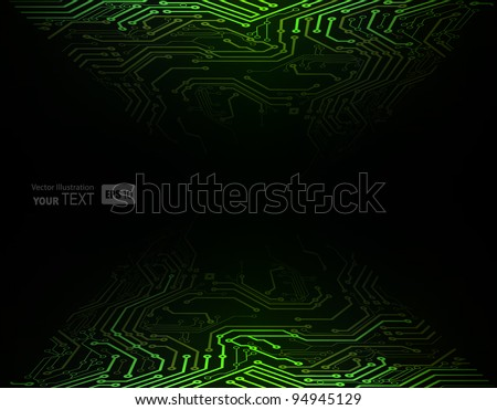 Green  Abstract background of digital technologies - stock vector