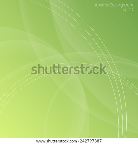 Green Abstract Background - Vector EPS10  - stock vector