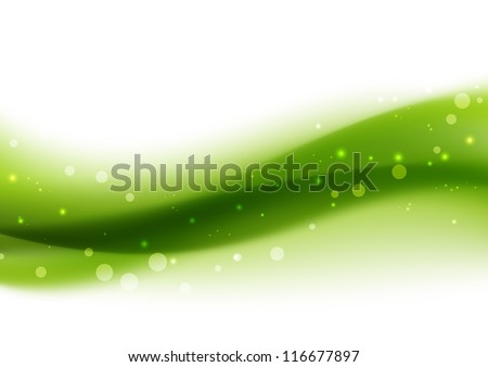 Green abstract background with place for text - stock vector
