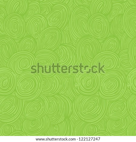 green abstract seamless pattern with swirls. vector illustration - stock vector