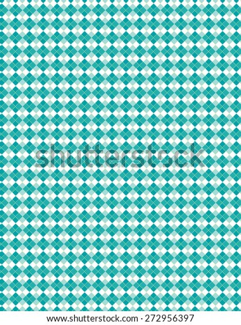 Green and blue square line pattern over white color background - stock vector