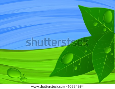 Green and blue. Vector. - stock vector