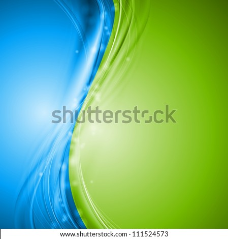 Green and blue wavy design. Vector illustration eps 10 - stock vector