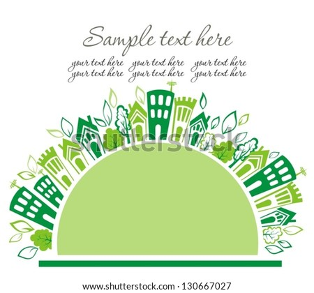 Green and clean ecology earth - stock vector