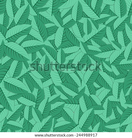 Green and fresh mint herb leaves background - stock vector