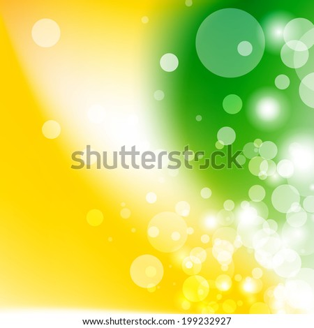 Green and Yellow abstract background - stock vector