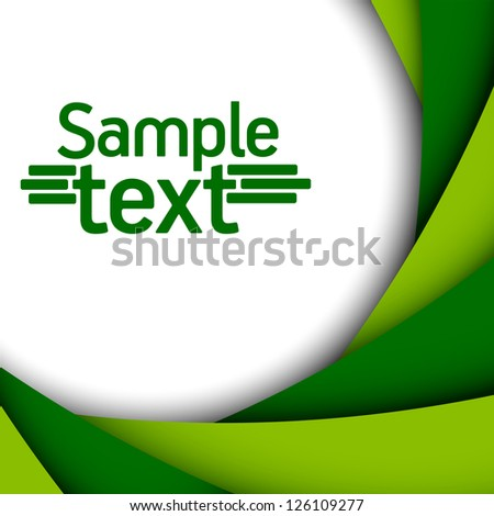 green background - stock vector